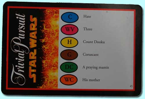 Trivial Pursuit card back