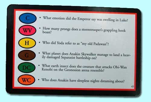 Trivial Pursuit Card