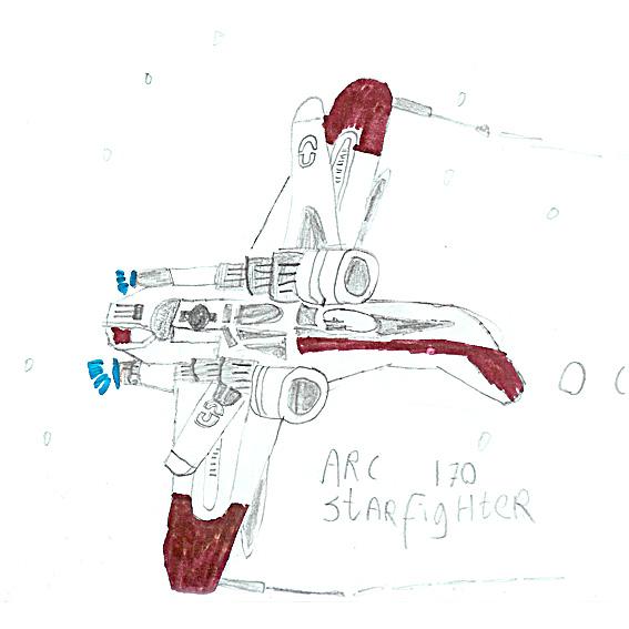 Arc 170 Starfighter drawing