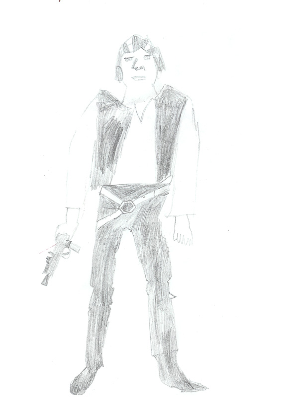 Han Solo drawing