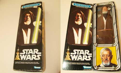 Obi Wan vintage doll Box front
