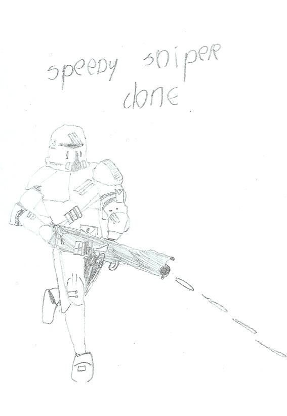 Speedy Sniper Clone drawing