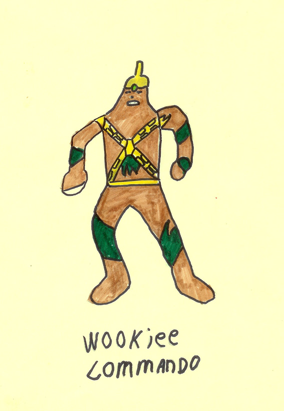Wookiee Commando drawing
