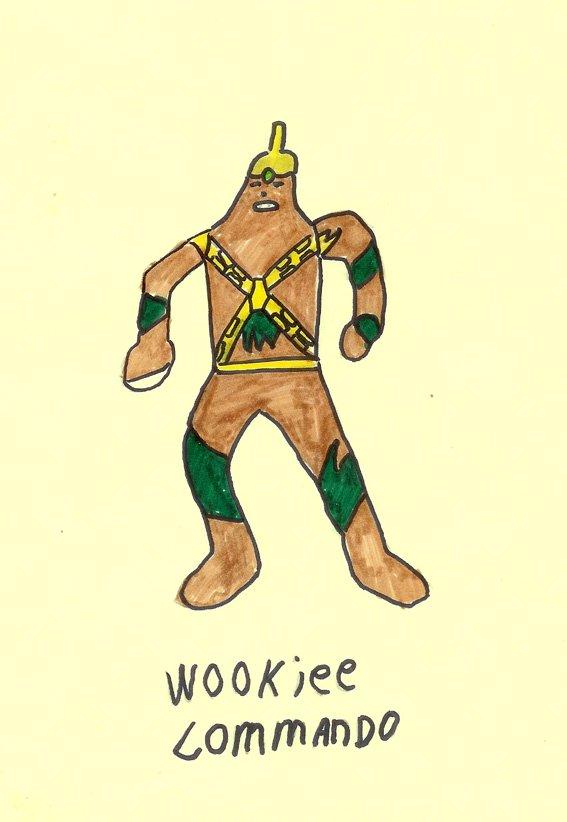 Wookiee Commando drawing